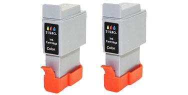 Двойная уп. совместимых картриджей Canon BCI-24C Twin 6882A009 голубой+пурпурный+желтый
