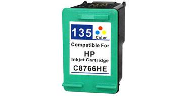 Совместимый картридж HP 135 C8766HE цветной