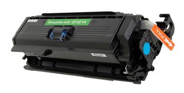 Совместимый картридж HP  CF321A голубой
