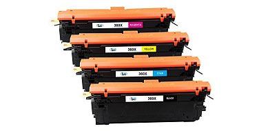 Набор совместимых картриджей HP CF360X-CF363 №508X черный + голубой + пурпурный + желтый
