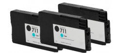 Тройная упаковка совместимых картриджей HP 711C x3