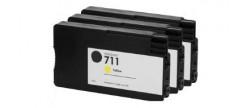 Тройная упаковка совместимых картриджей HP 711Y x3