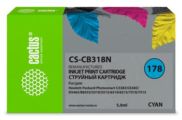Совместимый картридж Cactus 178 C CB318HE