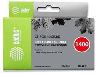 Совместимый картридж Cactus CS-PGI-1400XLBK