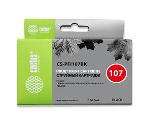 Совместимый картридж Cactus CS-PFI-107BK