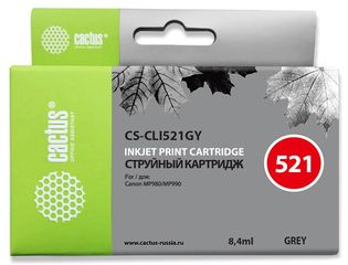 Совместимый картридж Cactus CS-CLI-521GY 2937B004