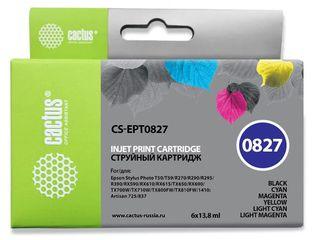 Набор совместимых картриджей Cactus T0821-T0826 C13T11274A10