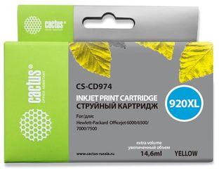 Совместимый картридж Cactus CS-920XL Y CD974AE