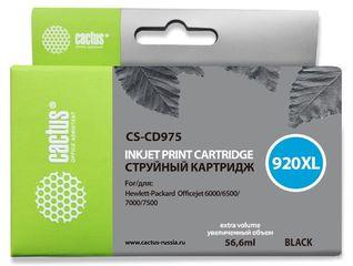 Совместимый картридж Cactus CS-920XL BK CD975AE