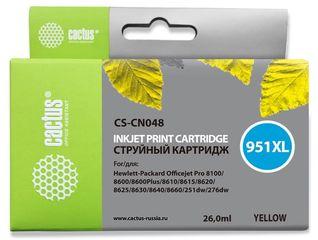 Совместимый картридж Cactus CS-951XL Y CN048AE