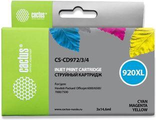 Набор совместимых картриджей Cactus CS-920XL CD972AE-CD974AE