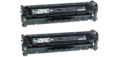 Двойная уп. совместимых картриджей HP CC530AD 304AD черный