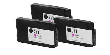 Тройная уп. совместимых картриджей 711Mx3 CZ135A