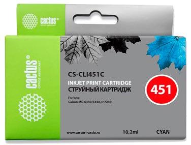 Совместимый картридж Cactus CS-CLI-451C 6524B001