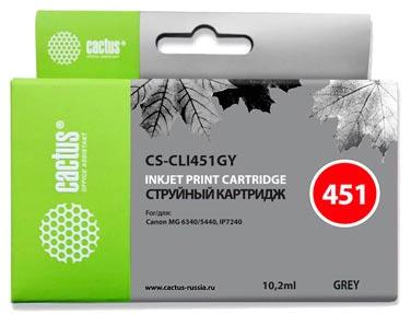 Совместимый картридж Cactus CS-CLI-451GY 6527B001