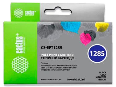 Набор совместимых картриджей Cactus T1285 C13T12854010