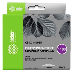 Совместимый картридж Cactus CS-LC-1100BK