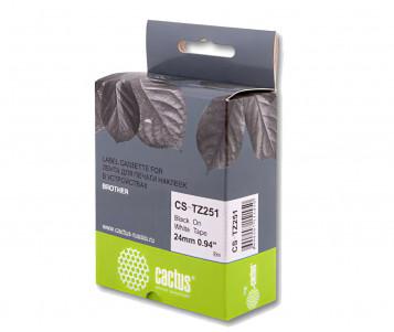 Совместимая лента для печати наклеек Cactus CS-TZe-251