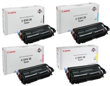 Набор оригинальных картриджей C-EXV26 1660B006-1657B006