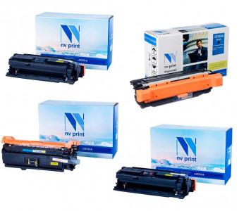 Набор совместимых картриджей NVP CE250A-CE253A