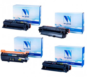 Набор совместимых картриджей NVP CE250X-CE253A