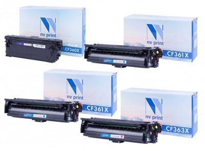 Набор совместимых картриджей NVP CF360X-CF363X