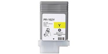 Оригинальный картридж PFI-102Y