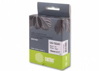 Совместимая лента для печати наклеек Cactus CS-TZe-241