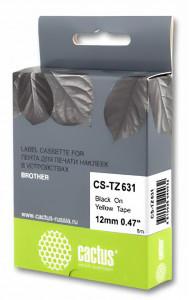 Совместимая лента для печати наклеек Cactus CS-TZe-641