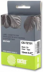 Совместимая лента для печати наклеек Cactus CS-TZe-131
