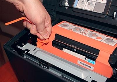 распаковка принтера Canon i-SENSYS LBP7018C
