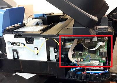 где плата управления принтера canon pixma g3411