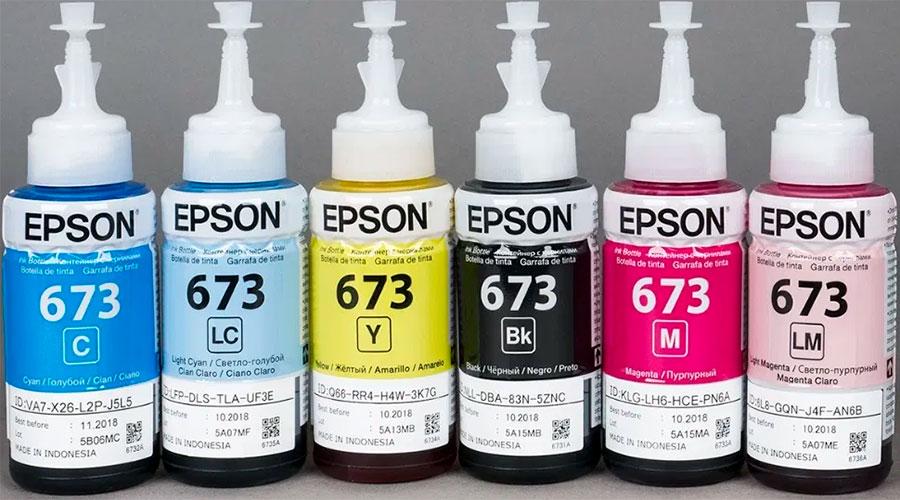 купить чернила T673 к принтеру Epson