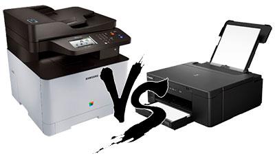 какой принтер лучше выбрать, струйный или лазерный