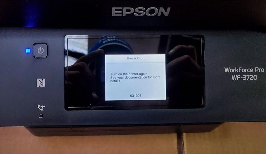 код ошибки Epson 031006 что делать