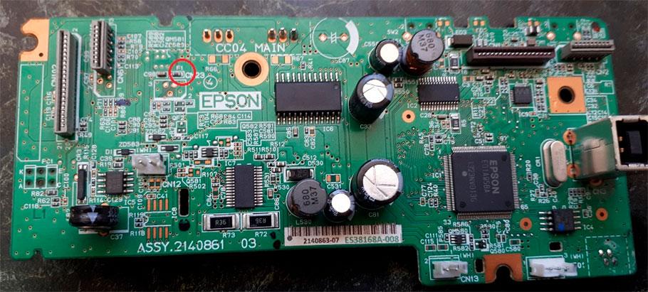 ошибка 0x9a epson сгорел предохранитель f1