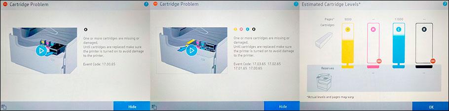 как убрать сообщение об ошибке картриджа HP