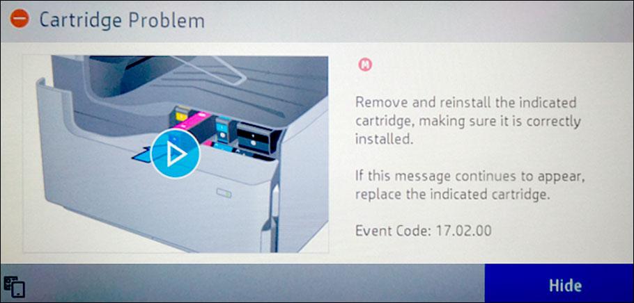 проблема с картриджем HP что делать