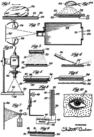патент на ксерографию Честера Карлсона