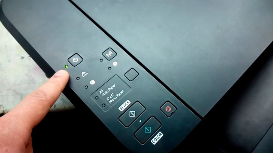 комбинация кнопок для сброса ошибки Canon B200 (P10)