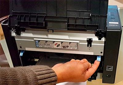 как вытащить фотобарабан Canon i-SENSYS LBP7018C