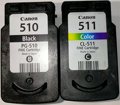 как заправить картриджи pg-510 и cl-511
