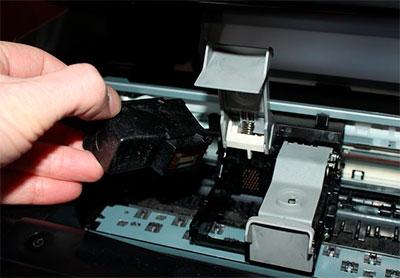 как вытащить картридж с принтера Canon