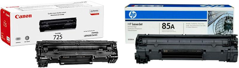 совместимость картриджей Canon и HP