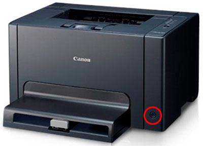 как включить принтер Canon i-SENSYS LBP7018C